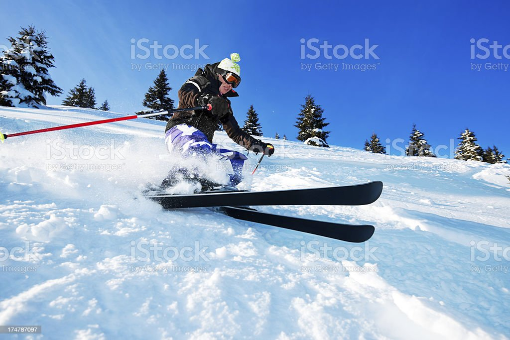 Young Skier. royalty-free stock photo