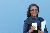 istock Young Smart Looking African American Woman 642034646