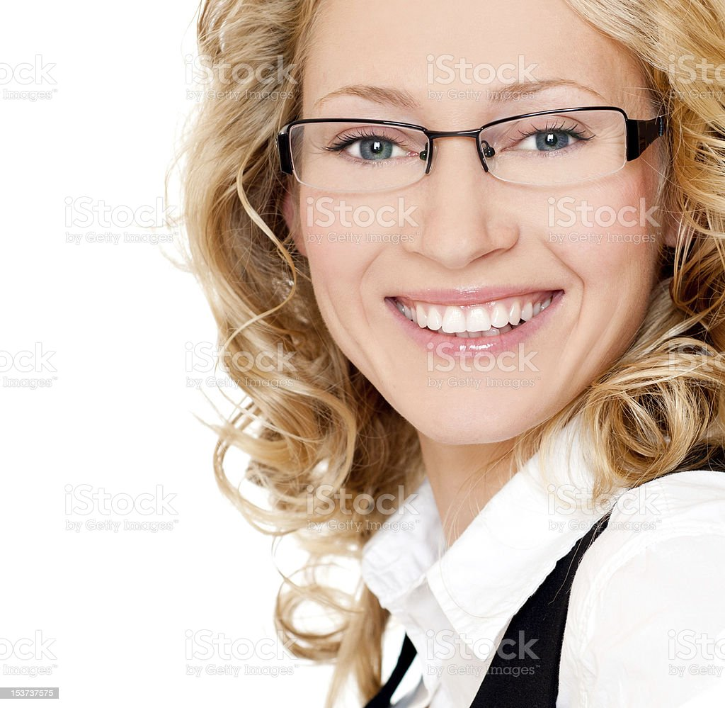 young smiling businesswoman royalty-free stock photo