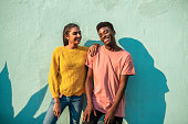 istock Young smiling couple. 1222821827