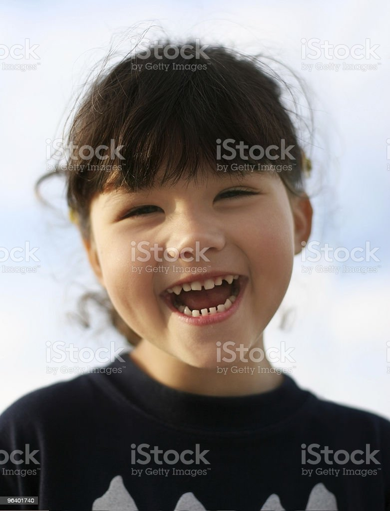 幸せな女の子の屋外 - 1人のロイヤリティフリーストックフォト