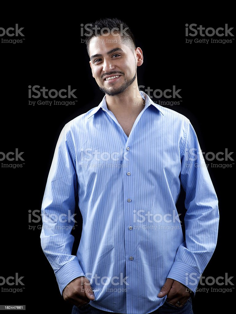 Young smiling Hispanic male royalty-free stock photo