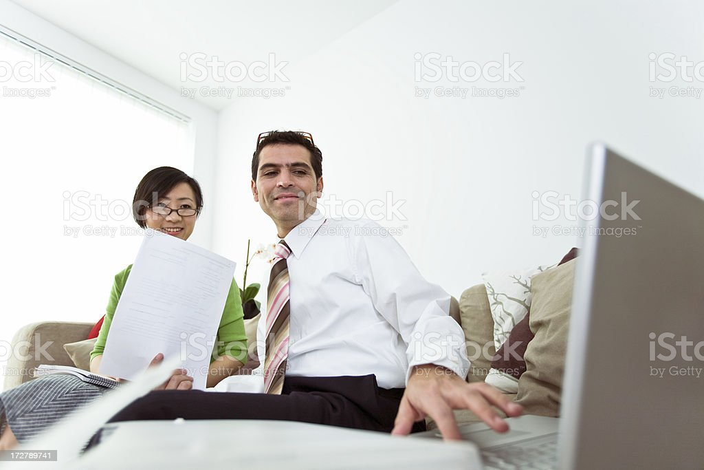 Young smiling professionals royalty-free stock photo