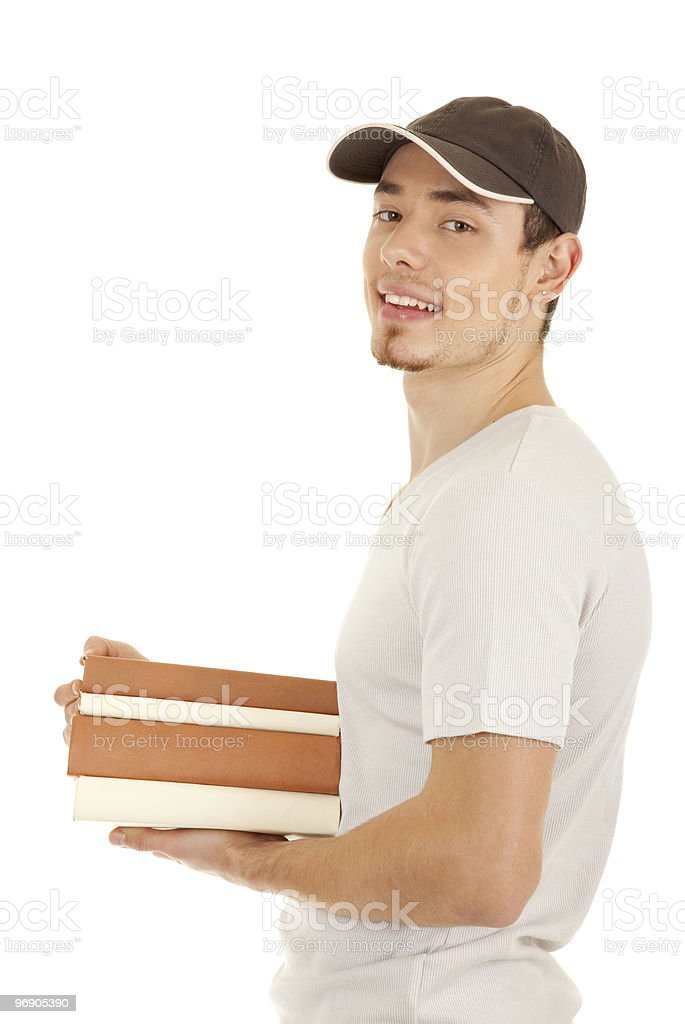 Young smilling men with books royalty-free stock photo