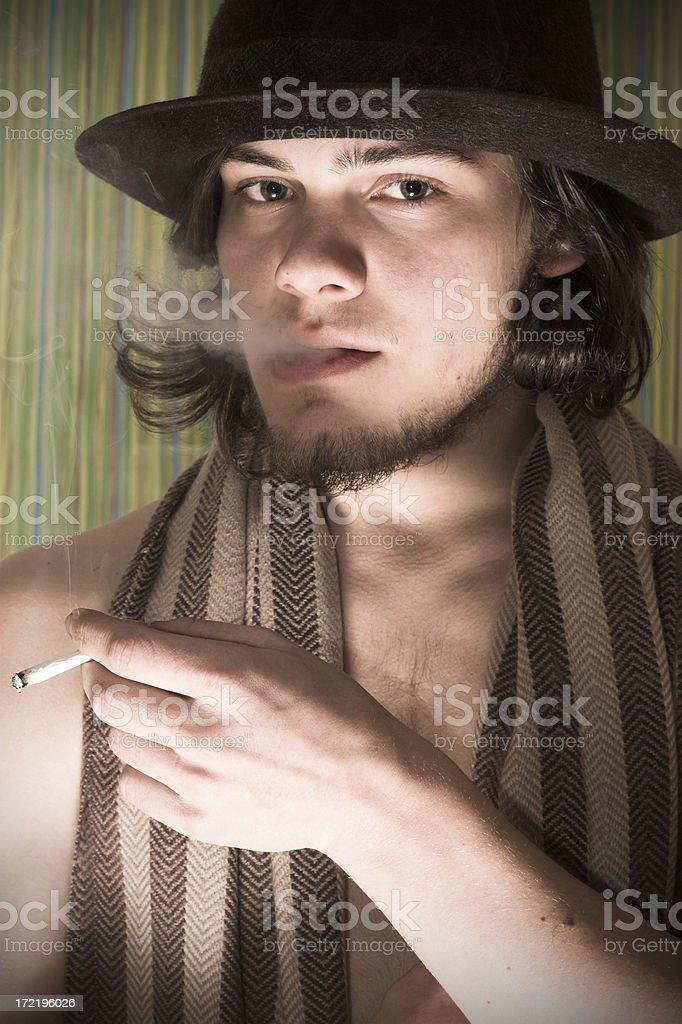 Young Smoker stock photo