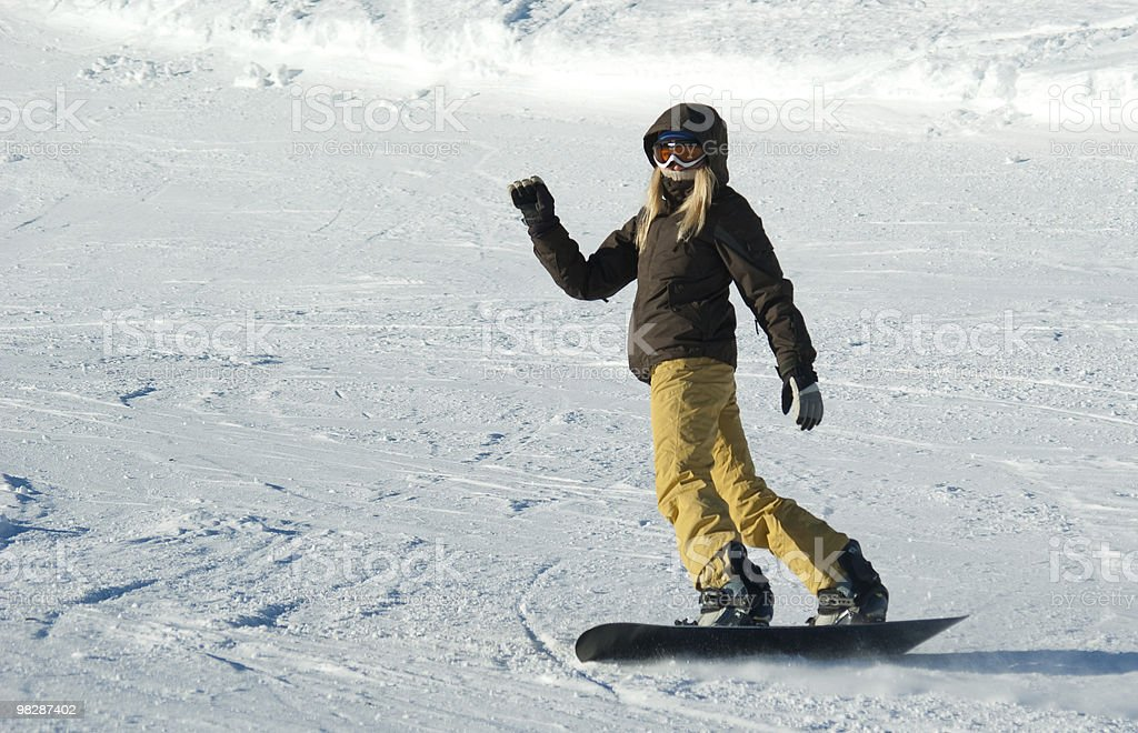 Young snowboarder girl royalty-free stock photo