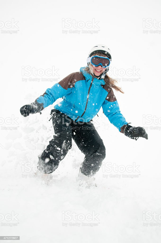Young snowboarder royalty-free stock photo