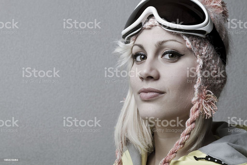 young snowboarder portrait stock photo