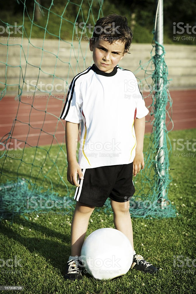 Young Soccer Champion royalty-free stock photo