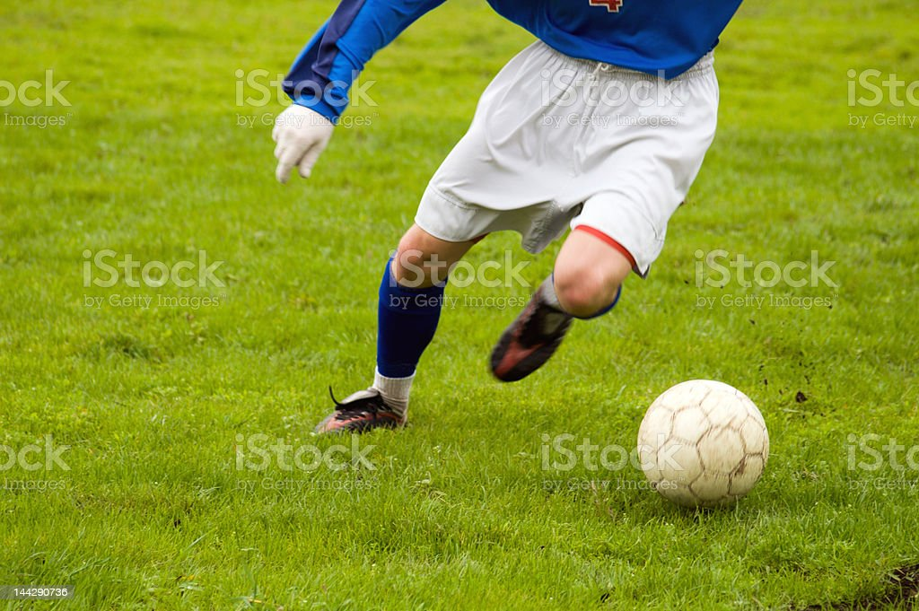 young soccer stock photo