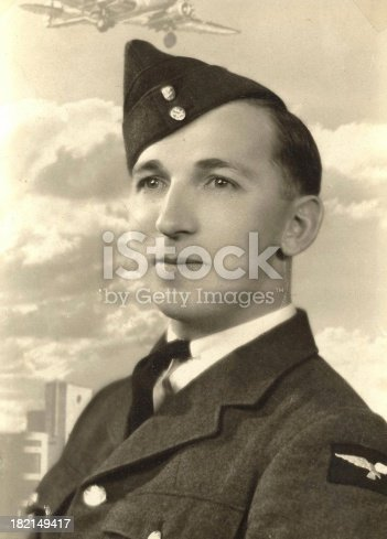 A 1941 protrait of a young soldier the day before going overseas.