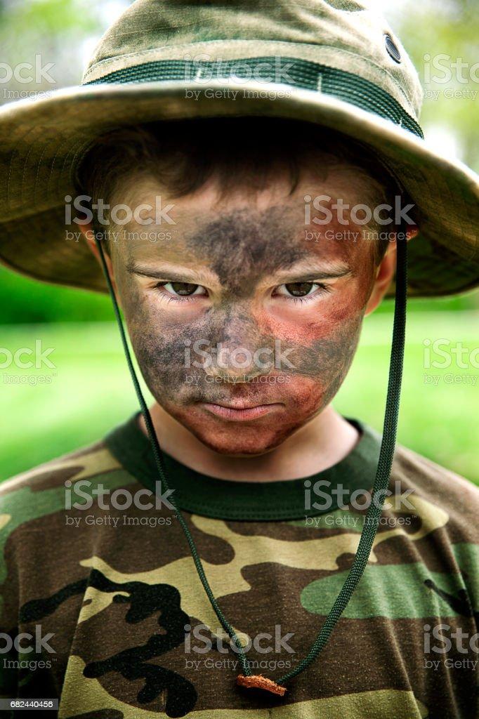Junge Soldier Lizenzfreies stock-foto