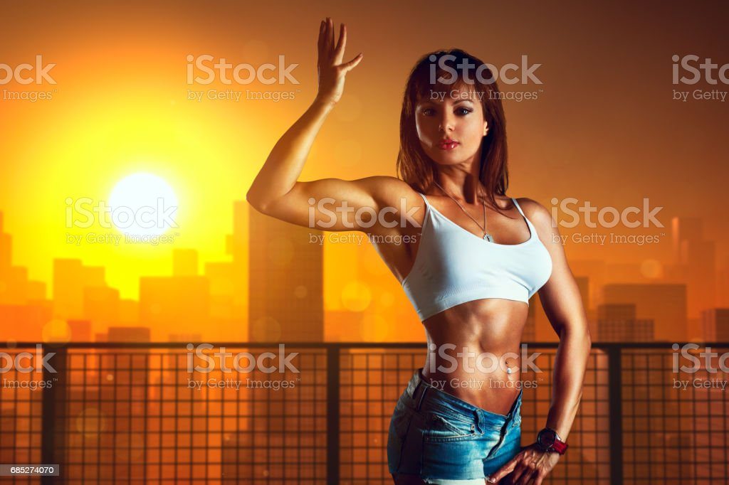 Young sports woman royalty-free stock photo
