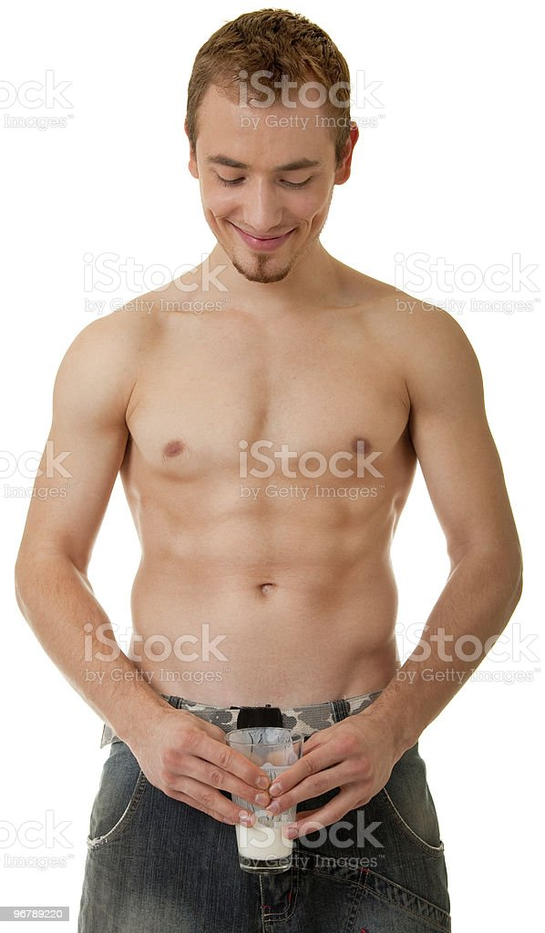 young sportsman with a bare torso royalty-free stock photo
