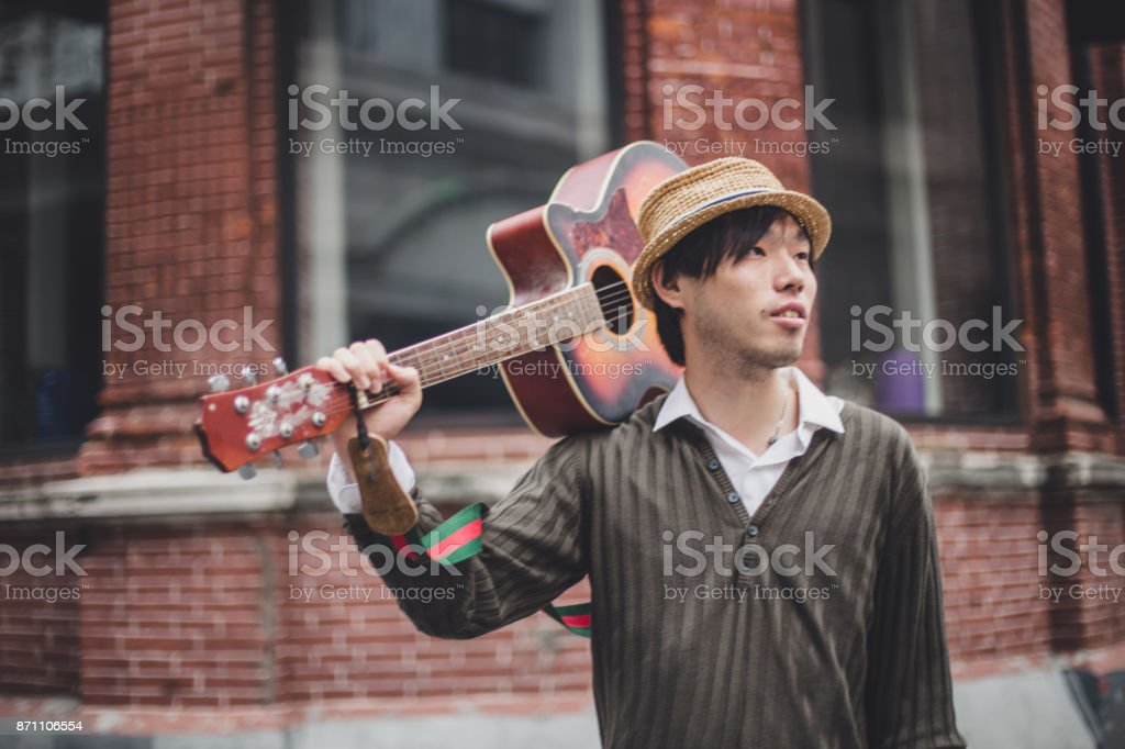 Young street artist stock photo