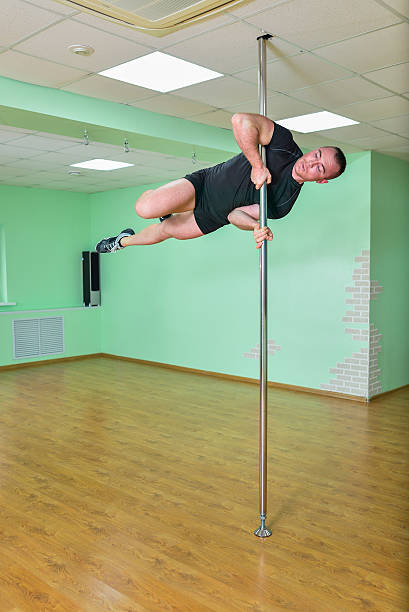 Naked Male Pole Dancer