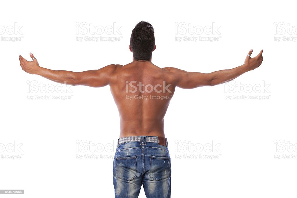 Young strong man royalty-free stock photo