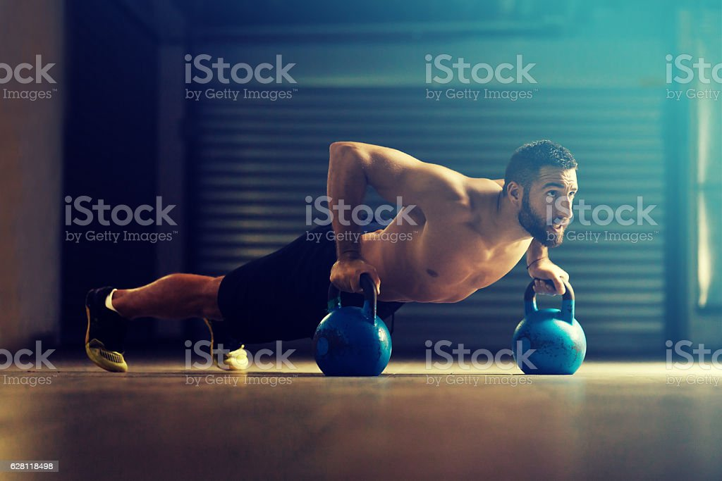 Young strong man stock photo
