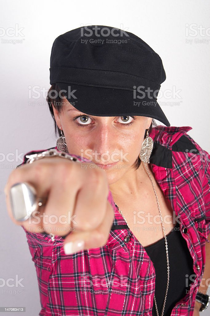 Young strong woman royalty-free stock photo
