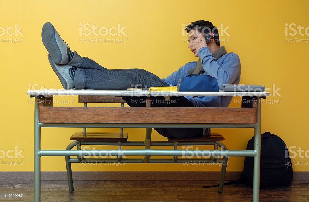 young student calling stock photo