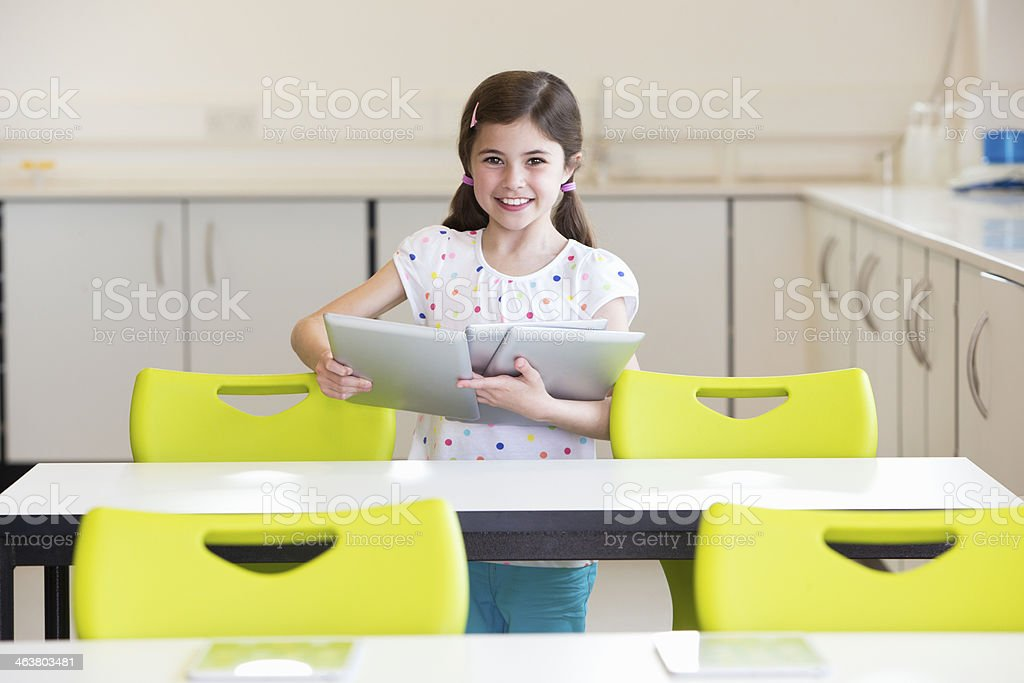 Young Student in the Classroom royalty-free stock photo