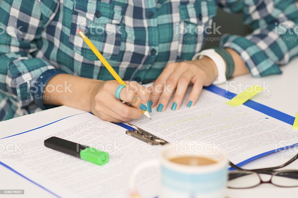 Young student learning royalty-free stock photo