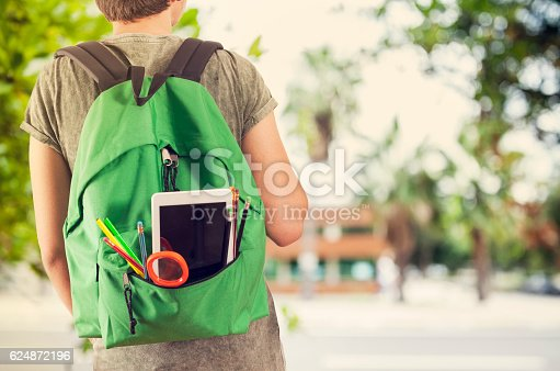 istock Young student man in campus 624872196
