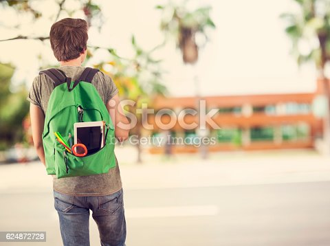 istock Young student man in campus 624872728