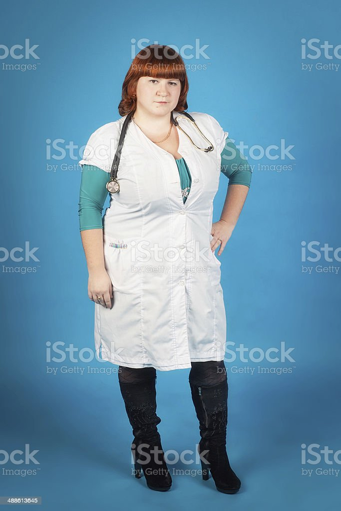 Young student of medicine with stethoscope royalty-free stock photo
