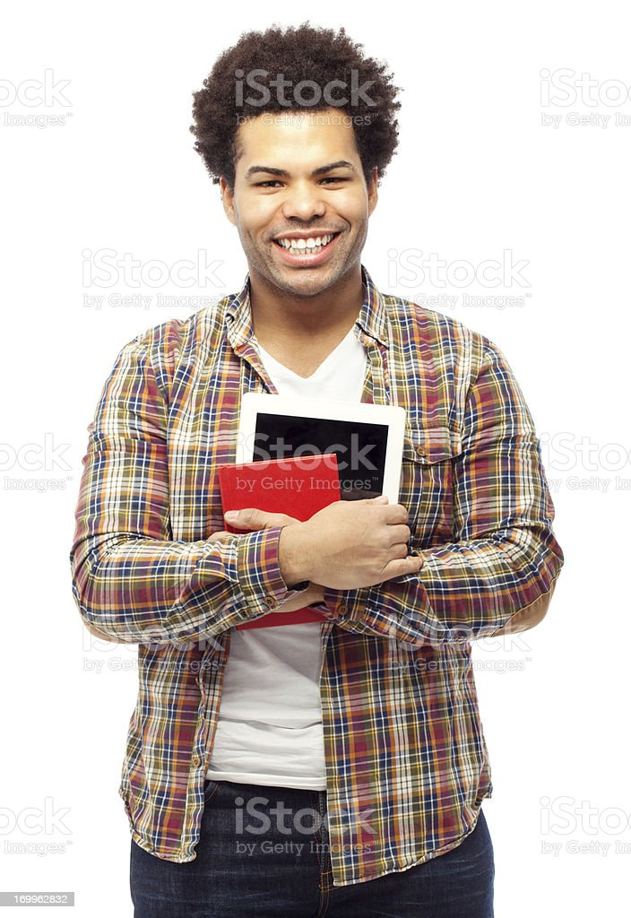 Young student with a digital tablet royalty-free stock photo