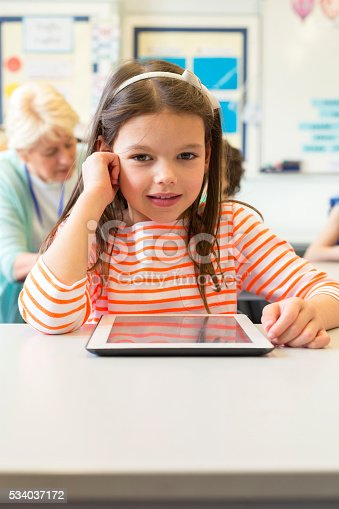 istock Young Student with her Digital Tablet 534037172