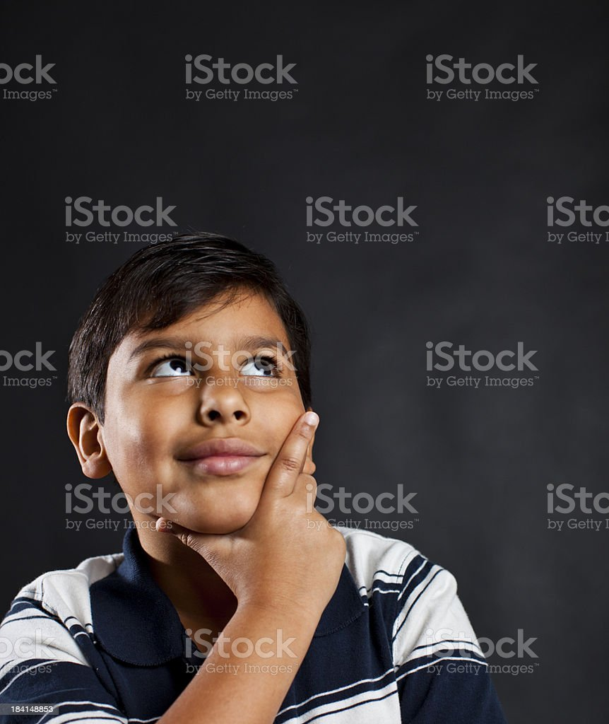 young student with ideas stock photo