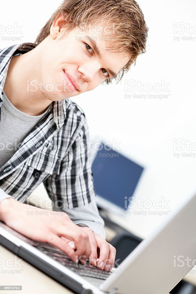 Young student with laptop royalty-free stock photo