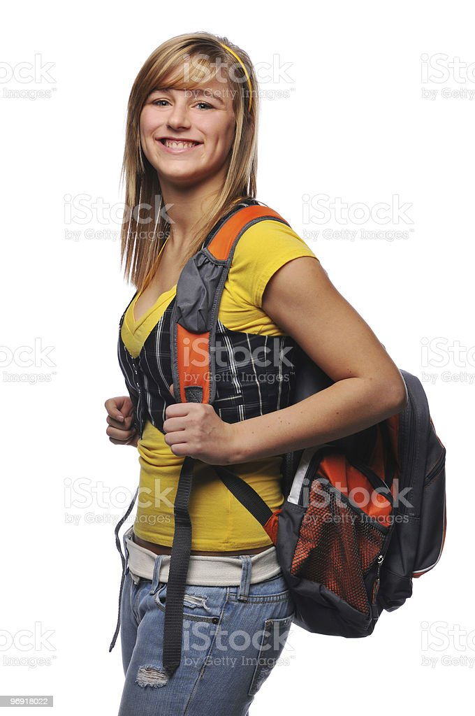 Young student woman royalty-free stock photo