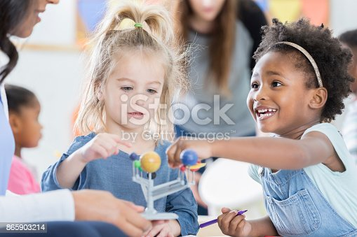 istock Young students learn about the solar system 865903214