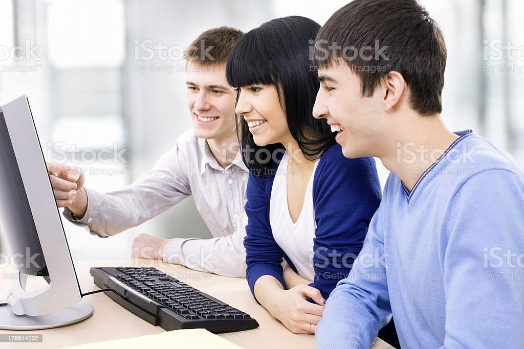 Young students royalty-free stock photo