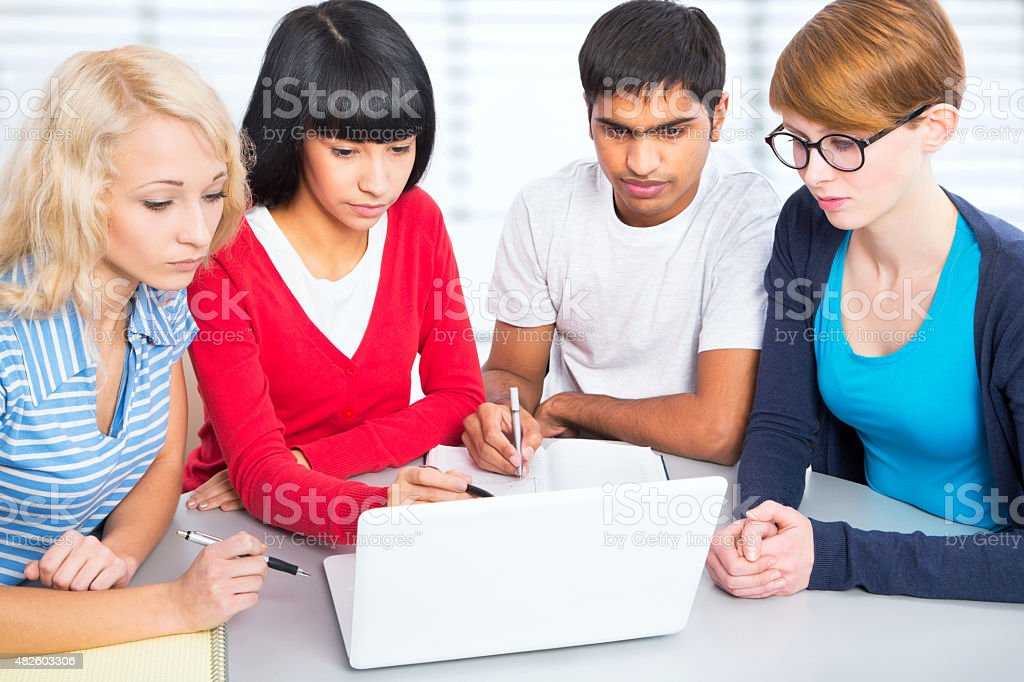 Young students stock photo