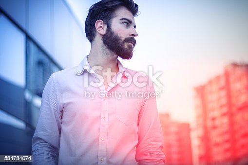 istock Young stylish businessman 584784074