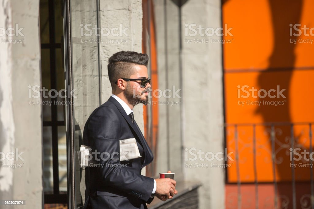 Young stylish businessman royalty-free stock photo