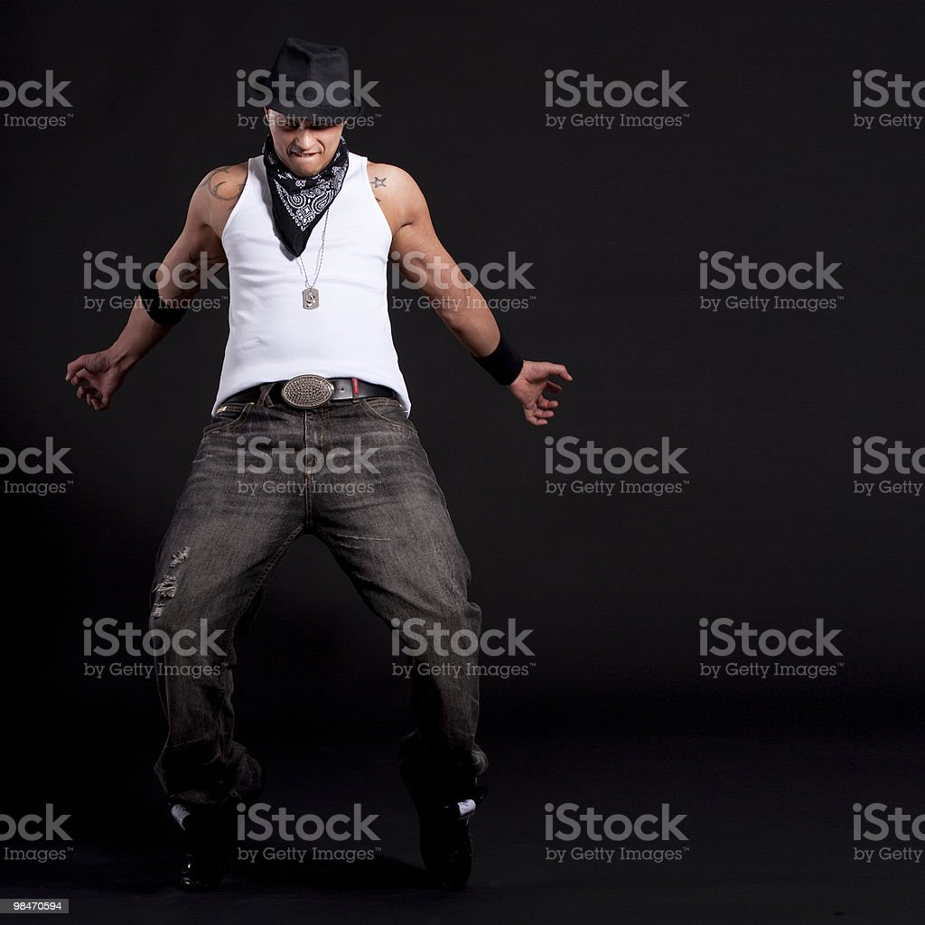 Young stylish dancer royalty-free stock photo