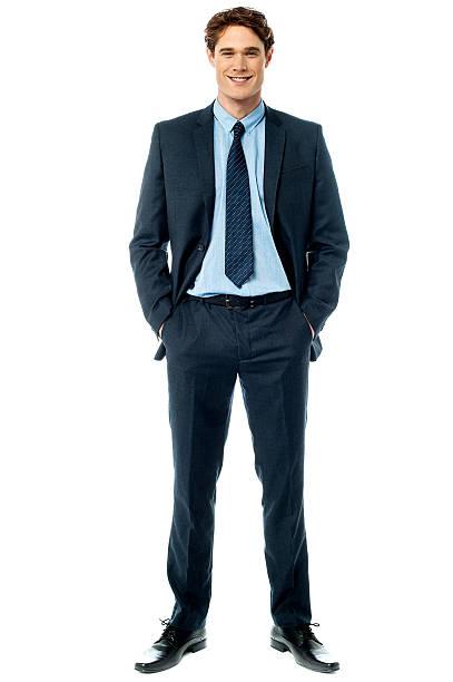 Young stylish smiling sales executive stock photo