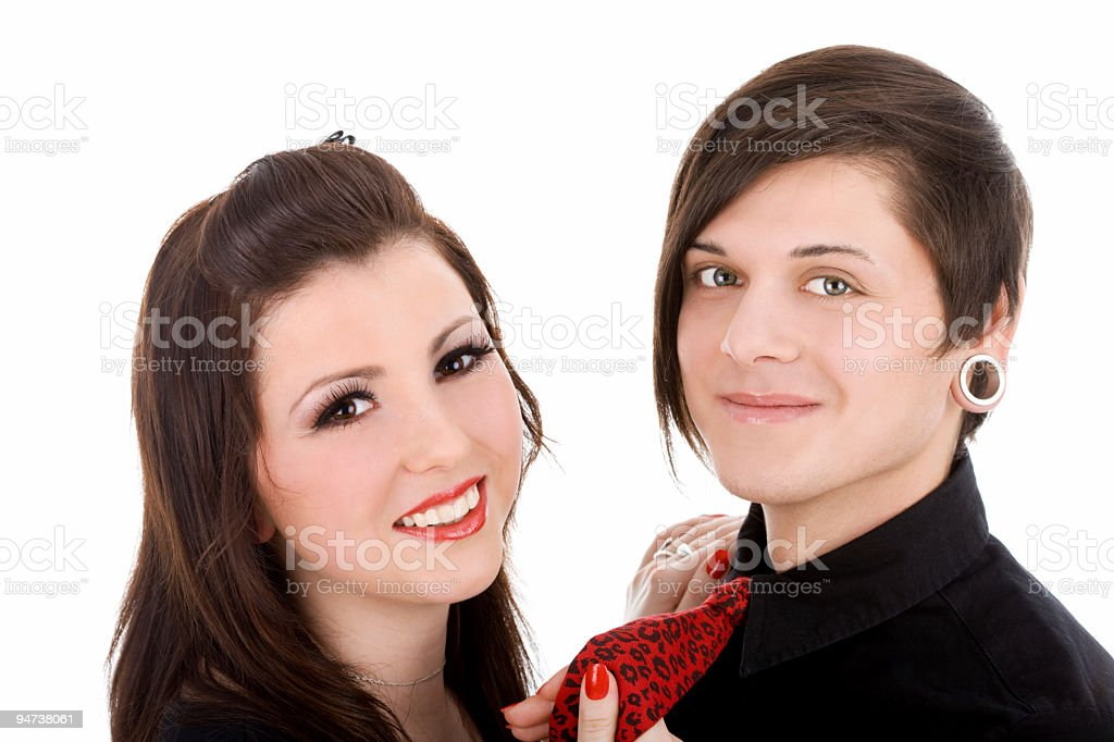 Young subcultural couple royalty-free stock photo