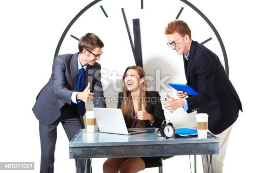 487354658 istock photo Young Successful Business Team on White Background 481011051