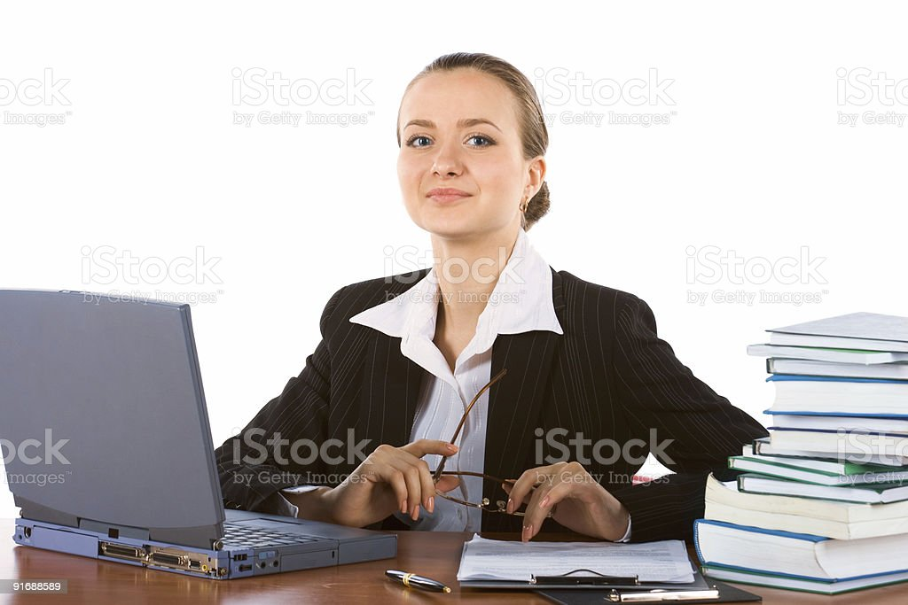 young successful businesswoman royalty-free stock photo