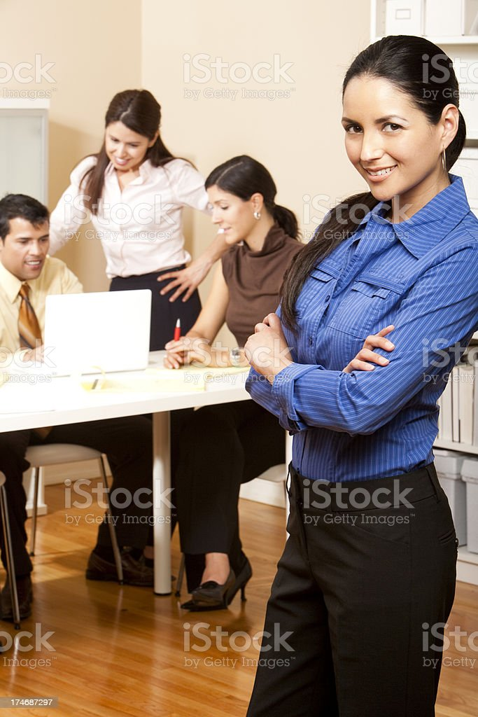 Young Successful Latina Businesswoman royalty-free stock photo