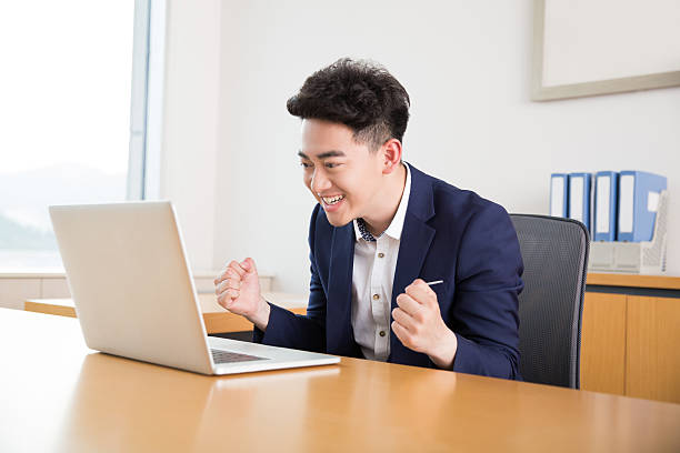 young successful man handsome handsome chinese man, owner of a company civil servant stock pictures, royalty-free photos & images