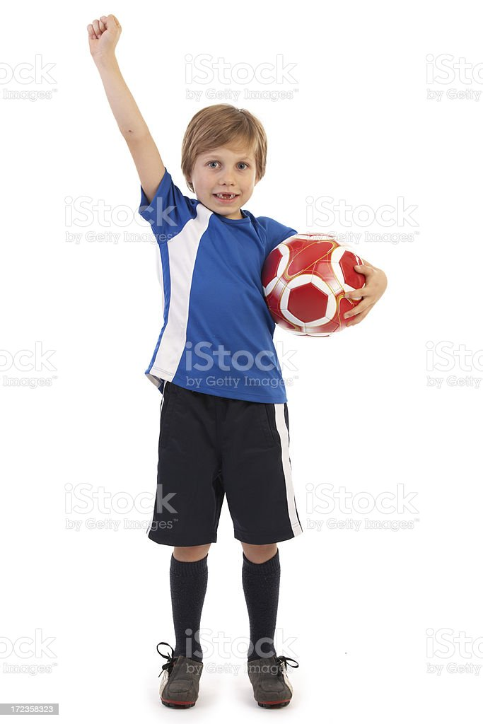 young successful soccerplayer royalty-free stock photo