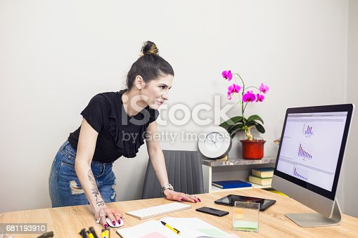 518704237 istock photo Young successful tattoo business woman 681193910