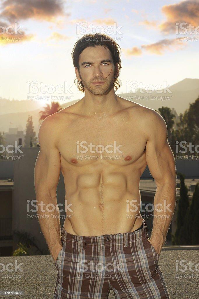 Young summer man royalty-free stock photo