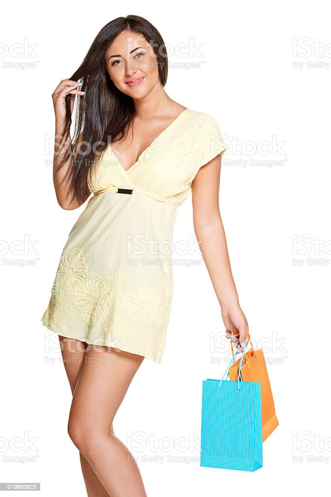 young sun-tanned woman stock photo